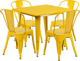 Yellow Bistro Chairs Yellow Bistro Table Bonners Furniture