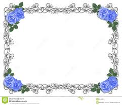 blue flower clipart blue wedding border pencil and in color blue