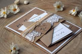 personalized wedding invitations burlap and lace wedding invitation kit personalized wedding