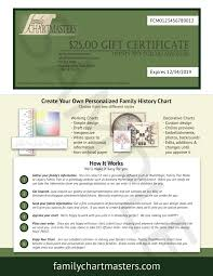 custom gift certificates gift certificates family chartmasters