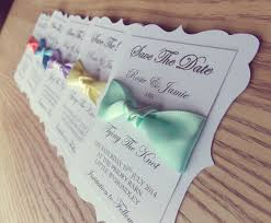 wedding invitations the knot save the date tie the knot ribbon wedding invitation set of 50
