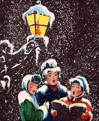 christmas carolers christmas carolers vintage christmas