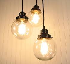 Clear Glass Pendant Light Fixtures Blown Glass Pendant Lights