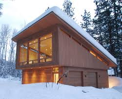 shed architectural style mazama guest cabin contemporary garage seattle by finne