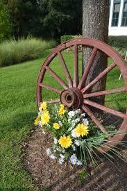 Outdoor decorations Wagon Wheels Pinterest