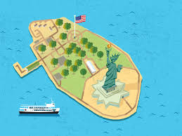 Continents And Oceans Of The World Map by Liberty U0026 Ellis Island Statue Cruises
