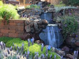 lawn u0026 garden natural backyard waterfall decor with structure