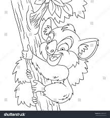 coloring page cartoon koala bear climbing stock vector 685695787