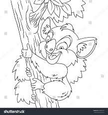 coloring page cartoon koala bear climbing stock vector 685695787