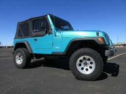 teal jeep rubicon 1997 jeep wrangler se 4x4 fultons used cars inc