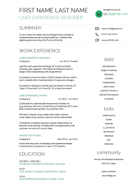 Ui Ux Resume Ux Resume Template 28 Images Ux Designer Jpg 2550 215 3300 Ux