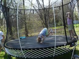 backyard trampolines outdoor design and ideas