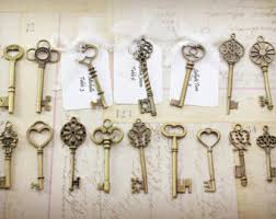 Wholesale Wedding Decorations 18 Vintage Style Skeleton Key Collection Antiqued Bronze Alice