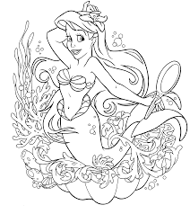 disney ariel coloring pages free coloring book 4753