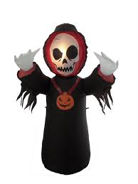 the holiday aisle halloween inflatable grim reaper decoration