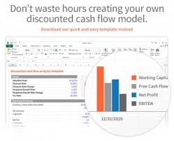 dcf discounted cash flow model excel template eloquens