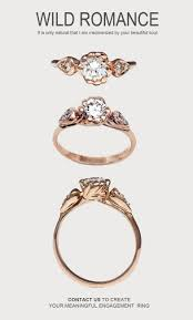 unique gold engagement rings nested yellow jewelry