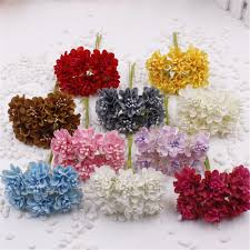 12pcs lot mini silk artificial rose bouquet wedding decoration