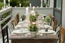 rustic table setting ideas outdoor party table setting ideas outdoor designs