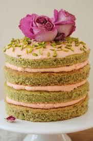 pistachio layer cake with rose mascarpone frosting u0026 1 year