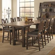 dining tables rustic grey wood furniture farmhouse dining room
