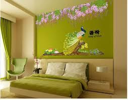 Christmas Bathroom Decor Amazon by Peafowl Flowers Trees Home Decor Poster Wall Sticker Diy Vinyl