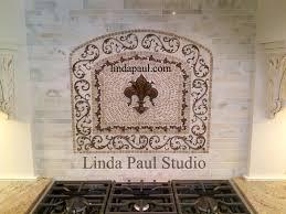 tile medallions for kitchen backsplash fleur de lis kitchen backsplash mosaic tile medallions