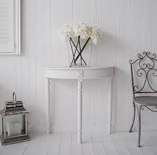 white half moon table small half moon table for hall white glossy small half moon console
