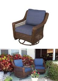 Swivel Rocking Chairs For Patio Hampton Bay Spring Haven Brown All Weather Wicker Patio Swivel