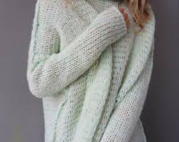 how does it take to knit a sweater oversized handmade chunky knit sweater