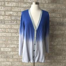 silver cardigan sweater chico s chico s ombré blue gray silver cardigan sweater 1 from