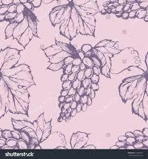 seamless pattern grapes hand drawn vector stock vector 514640701