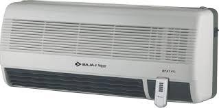 wall mounted space heater bajaj majesty rpx 7 ptc wall mount fan room heater price in india
