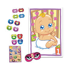 aliexpress com buy pin the pacifier baby shower game mask u0026 12