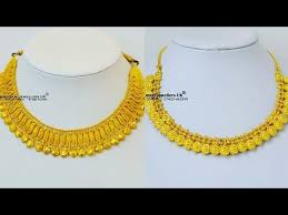 small gold necklace images Gold necklace designs in 22 carat yellow gold gold jewellery jpg