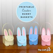 easter bunny baskets printable easter bunny baskets the craft