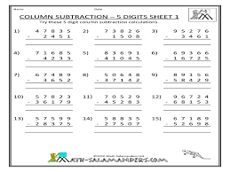 subtraction with regrouping worksheets 3rd grade addition and