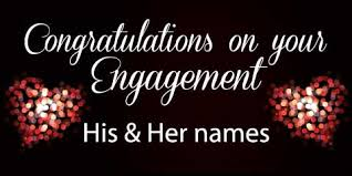 congratulations engagement banner engagement banner black
