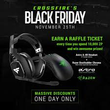 razer black friday crossfire black friday raffle today only for every facebook