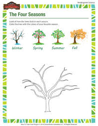 the four seasons science worksheets for kindergarteners