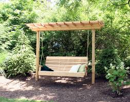 Backyard Cing Ideas For Adults Wooden Outdoor Swing Bench Chair With Arbor Of Awesome