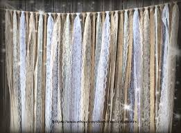 wedding backdrop garland burlap garland handmade with lace sequins fabric and satin