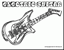 outstanding electric guitar coloring pages with guitar coloring