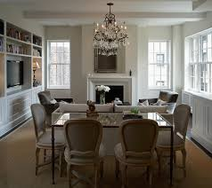 How To Size A Dining Room Table - dining table behind sofa transitional living room b moore