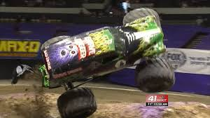 grave digger monster truck driver monster jam rumbles smashes into macon