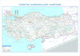 Map Turkey Turkey Road Map Easteurope Countries Europe Wall Maps