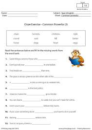 primaryleap co uk cloze exercise common proverbs 3 worksheet