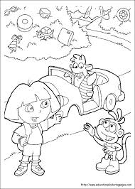 dora coloring pages free kids