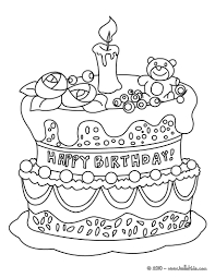 coloring page of a birthday cake glum me