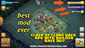 modded apk clash of clans hacks mod apk with builder base 2018